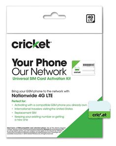 Cricket wireless complete starter pack nano sim card with standard
