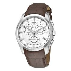 Tissot Men's T0356171603100 Couturier Silver Chronograph Dial Watch: Watches: Amazon.com