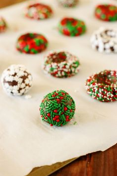 Christmas Chocolate Kiss Cookies ~ Spread some holiday cheer with these adorable little treats! A fun cookie project for kids & grown-ups alike.  www.thekitchenismyplayground.com