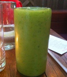 Green Mango Smoothie w/ cucumber and cilantro