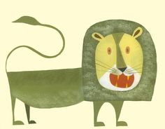 Augustus the Lion Print #Etsy #JonathanAdler #GetChicSweepstakes