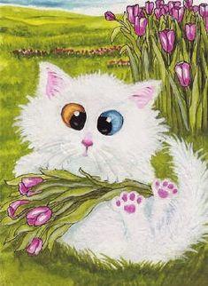 Кошки в живописи. Эмилин Бирль