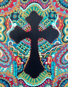 Shop for cross art from the world's greatest living artists. All cross artwork ships within 48 hours and includes a money-back guarantee. Choose your favorite cross designs and purchase them as wall art, home decor, phone cases, tote bags, and more! Christian Canvas Paintings, Cross Canvas Paintings, Christian Artwork, Canvas Art, Pottery Painting, Painted Pottery, Easter Paintings, Wine And Canvas, 5th Grade Art