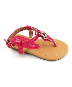 This Fuchsia Circle-Embellished Sandal is perfect! #zulilyfinds
