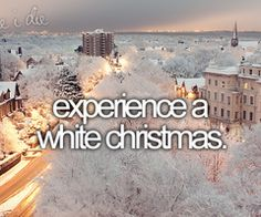 Bucket List -- experience a white Christmas