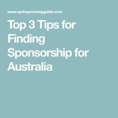 Top 3 Tips for Finding Sponsorship for Australia