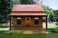 I love Texas Tiny Houses. And this is my dream house! 1145 a/c sq. ft. 14 X 18 Family Room 9 X 10′-6″ Sleeping Loft 8 X 30 Cover Front Porch Interior Finish – Custom 2 Bed Rooms 2 Baths 10 X 30 Screened In Porch Built on Slab or Pier and Beam Exterior Facade – Custom