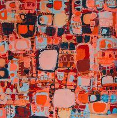 Naomi Hobson, September Races, 2014, acrylic on linen, 90 x 90. Alcaston Gallery, Melbourne @ Depot II, Danks St., Sydney.
