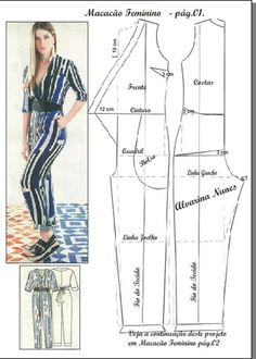 Good afternoon, our sentence e. Let's start with the overalls, the basic body of the modeling work on the body itself. For other jumpsuit models, you can click: Please comment to support and clicImage may contain: 1 person Sewing Pants, Sewing Clothes, Diy Clothes, Fashion Sewing, Diy Fashion, Fashion Dresses, Fashion Fabric, Jumpsuit Pattern, Pants Pattern