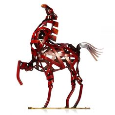 Metal Horse Jumping Sculpture With Horse Riding and Horse Rider Gifts – Sweet Home Make Sculpture Metal, Horse Sculpture, Modern Sculpture, Horse Gifts, Gifts For Horse Lovers, Horse Artwork, Metal Artwork, Equestrian Gifts, Equestrian Style