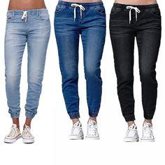 2018 New Autumn Pencil Pants Vintage High Waist Jeans New Womens Pants Full Length Pants Loose Ccowboy Pants Plus Size Trousers Women, Pants For Women, Boyfriend Jeans, Mom Jeans, Women's Jeans, Jeans Dress, Skinny Jeans, Jeans Price, Mode Chic