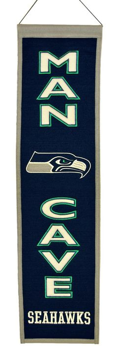 Seattle Seahawks Wool Man Cave Banner