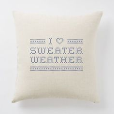 A pillow that professes your love for the best kind of weather. | 27 Products For People Who Are Completely Obsessed With Fall