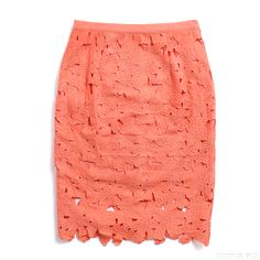 Bring on the garden party! We're obsessed with this romantic coral crochet skirt that screams spring 2015. Wear it with a silk cream top and nude heels for even more wow factor. Have you signed up for Stitch Fix yet? Get gorgeous pieces like this, delivered straight to your door!