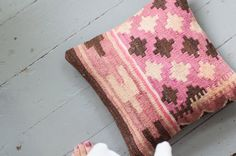 Turkish Kilim pillow  The Rona by AnnieAnnieVintage on Etsy