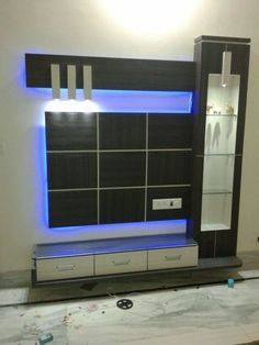 Latest lcd panel design collection for your home . Lcd Unit Design, Lcd Wall Design, Wall Unit Designs, Living Room Tv Unit Designs, Tv Unit Furniture Design, Tv Unit Interior Design, Bedroom Furniture Design, Interior Design Living Room, Bedroom Decor