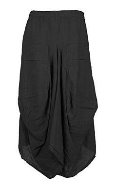 Ladies Womens Italian Lagenlook Quirky Elasticated Linen 2 Pocket Parachute Asymmetric Tulip Hem Long Boho Skirt One Size UK 8-16 (One Size, Black) Generic http://www.amazon.co.uk/dp/B00UNOHW6I/ref=cm_sw_r_pi_dp_iQXnvb1RC1GMX