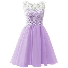Dresstells Short Tulle Prom Dress Bridesmaid Homecoming Gown with Lace ($159) ❤ liked on Polyvore featuring dresses, vestidos, purple, short dresses, prom dresses, purple mini dress, mini dress, sweetheart dress and organza dress