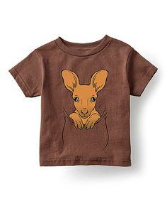 Love this Brown Kangaroo Patch Crewneck Tee - Toddler & Kid on #zulily! #zulilyfinds