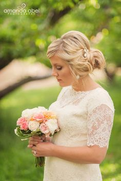 modest lace wedding gown