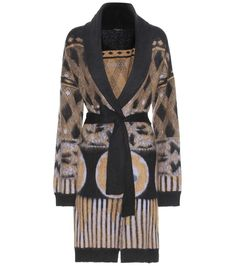 mytheresa.com - Printed mohair-blend cardigan - Luxury Fashion for Women / Designer clothing, shoes, bags