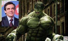 [LPQG Niouzes] Énervé par les révélations du Canard Enchaîné François Fillon se transforme en Hulk