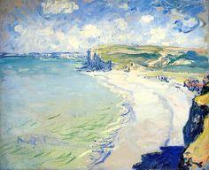The Beach at Pourville - Claude Monet