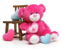 ChaCha Big Love Extra Large Hot Pink Teddy Bear 42 in $109.99 http://www.giantteddy.com