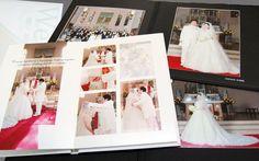 結婚式写真を写します。