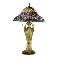 This Dale Tiffany 4 light table lamp has an antique bronze finish. Description from lightinguniverse.com. I searched for this on bing.com/images