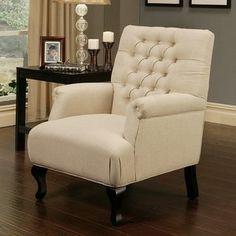 Abbyson Living Roma Linen Chair