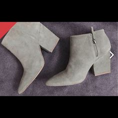 Selling this Beautiful gray suede Zara boots size 9/40 in my Poshmark closet! My username is: k4si4. #shopmycloset #poshmark #fashion #shopping #style #forsale #Zara #Shoes