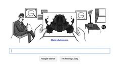 Hermann Rorschach Google doodle asks users to interpret inkblot test Hermann Rorschach Google doodle asks users to interpret inkblot test Swiss psychiatrist, born 129 years ago, invented – and gave his name to – inkblot test often used in psychoanalysis