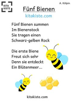 """""""Five bees"""" - finger game about the division of labor of bees - for ., """"Five bees"""" - finger game about the division of labor of bees - for # kindergarten # language promotion # spring - from the eBook finger games"""" by. The Moon Today, Craters On The Moon, Finger Games, Finger Plays, Welding Art, Stress Free, Division, Art Projects, Preschool"""