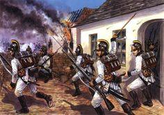 Tropas austríacas combatiendo en las calles de Aspern, 1809 Más en www.elgrancapitan.org/foro