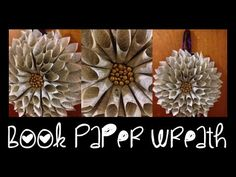 DIY: Book Paper Cone Wreath ♡ Theeasydiy #ChristmasWithJess - YouTube