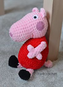 szydełko świnka Peppa schemat
