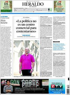 Los Titulares y Portadas de Noticias Destacadas Españolas del 1 de Octubre de 2013 del Diario Heraldo De Aragón ¿Que le pareció esta Portada de este Diario Español?
