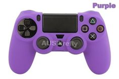 2x-Soft-Silicone-SKIN-Gel-Cover-Case-for-Sony-Playstation-PS4-PS-4-Controller (purple for me, pink for Miss 9)