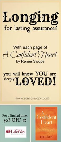 Just in time for her April 1st Online Bible/Book study, A Confident Heat by Renee Swope is on sale for $6.99 {50% OFF} at LifeWay! http://lfwy.co/XYkjNO