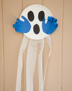 Activities: Scary Ghost. great easy fall craft. kids can trace their hands and cut out the eyes and mouth by themselves and also glue