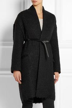 Isabel Marant|Seal belted wool-blend bouclé coat|NET-A-PORTER.COM