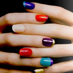 French tip nail ideas.