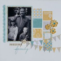 DONE - scrapbook layout - colors, paper squares, and banner