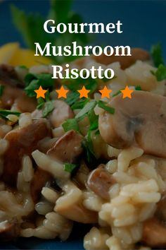 This authentic Italian-style mushroom risotto takes time to prepare, but it's worth the wait. Risotto Dishes, Risotto Recipes, Vegetable Recipes, Vegetarian Recipes, Healthy Recipes, Rice Recipes, Italian Dishes, Italian Recipes, Side Dish Recipes