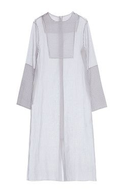 Multi Stripe Long Sleeve Blouse by LAKE STUDIO for Preorder on Moda Operandi