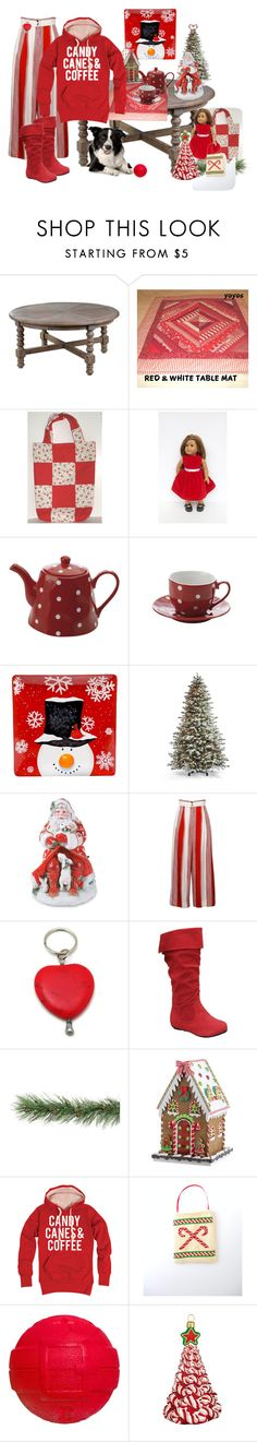 """Candy Canes & Coffee"" by thesandlappershop ❤ liked on Polyvore featuring interior, interiors, interior design, home, home decor, interior decorating, Uttermost, Hostess, Fitz & Floyd and Certified International"