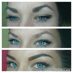 Niesamowita zmiana Makeupyourmindgdynia@gmail.com  Powder ombre Brows