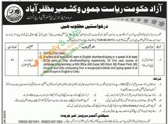 Govt Jobs in Azad Government of the State of Jammu Kashmir