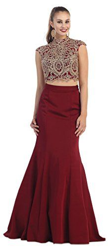 3dff0f7d7a7 Royal Queen Two Piece Semi Formal Dance Gown 6 Burgundy    Continue to the  product at the image link. (This is an affiliate link)